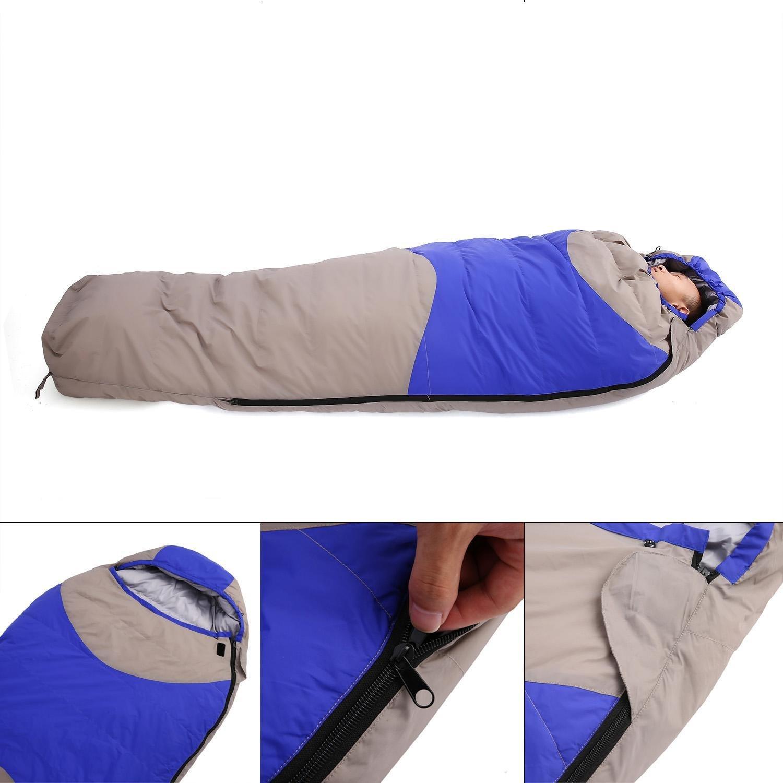 Lonlier Saco de Dormir Invierno -15 °C para acampada Senderismo Camping Excursiones Bolsa de Dormir por 4 Temporadas: Amazon.es: Ropa y accesorios