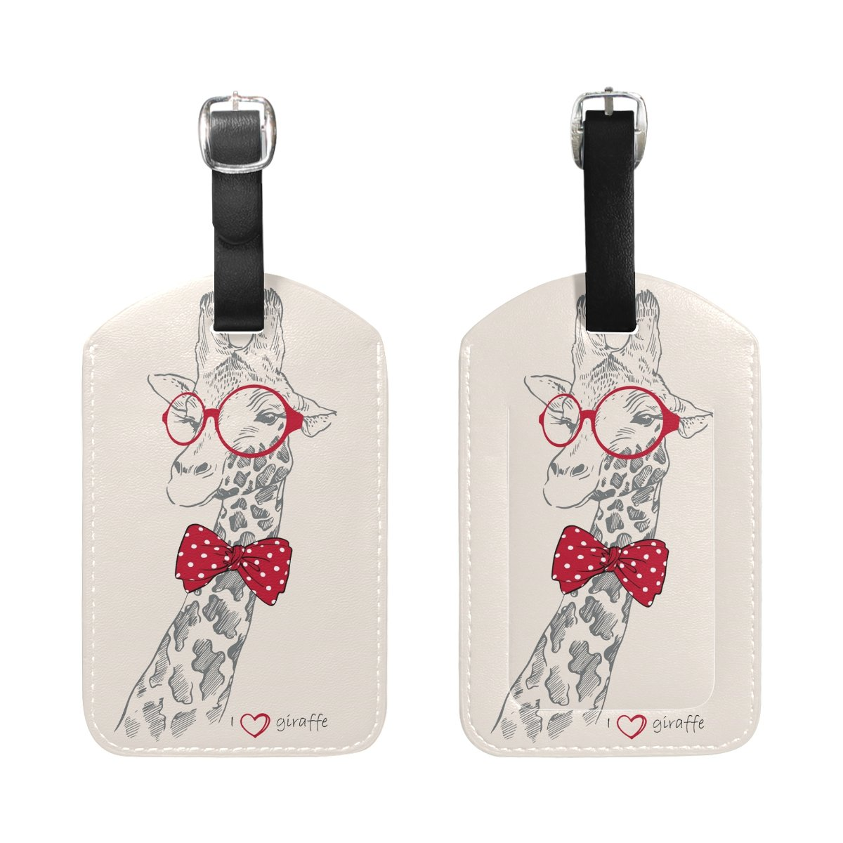 Home & Kitchen Aumimi Cartoon Butterfly Travel Luggage Tags 2pcs