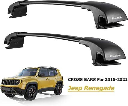 MOSTPLUS Roof Rack Cross Bar Rail Compatible for 2014 2015 2016 2017 2018 2019 2020 Jeep Cherokee Cargo Racks Rooftop Luggage Canoe Kayak Carrier
