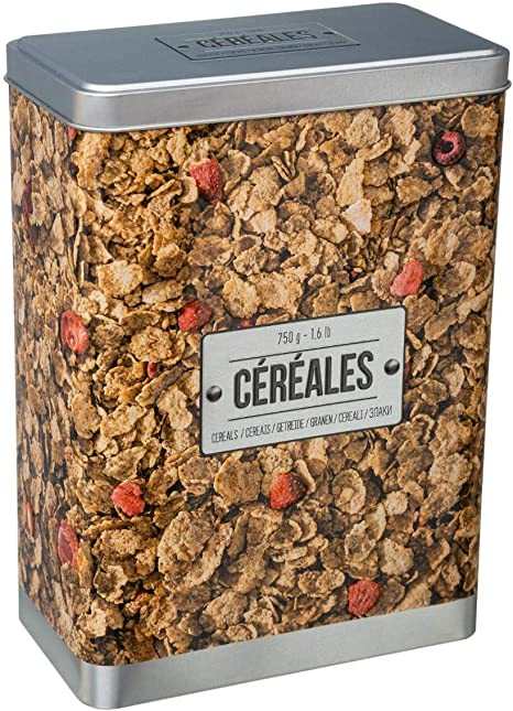 JJA 151216 Caja Metal Cereales 24x17x9, Varios, U: Amazon.es: Hogar