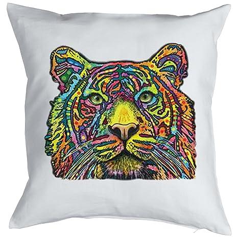 Tiger Cat chatear Gatti Gatos Cojín, Pop Art Style: Amazon ...
