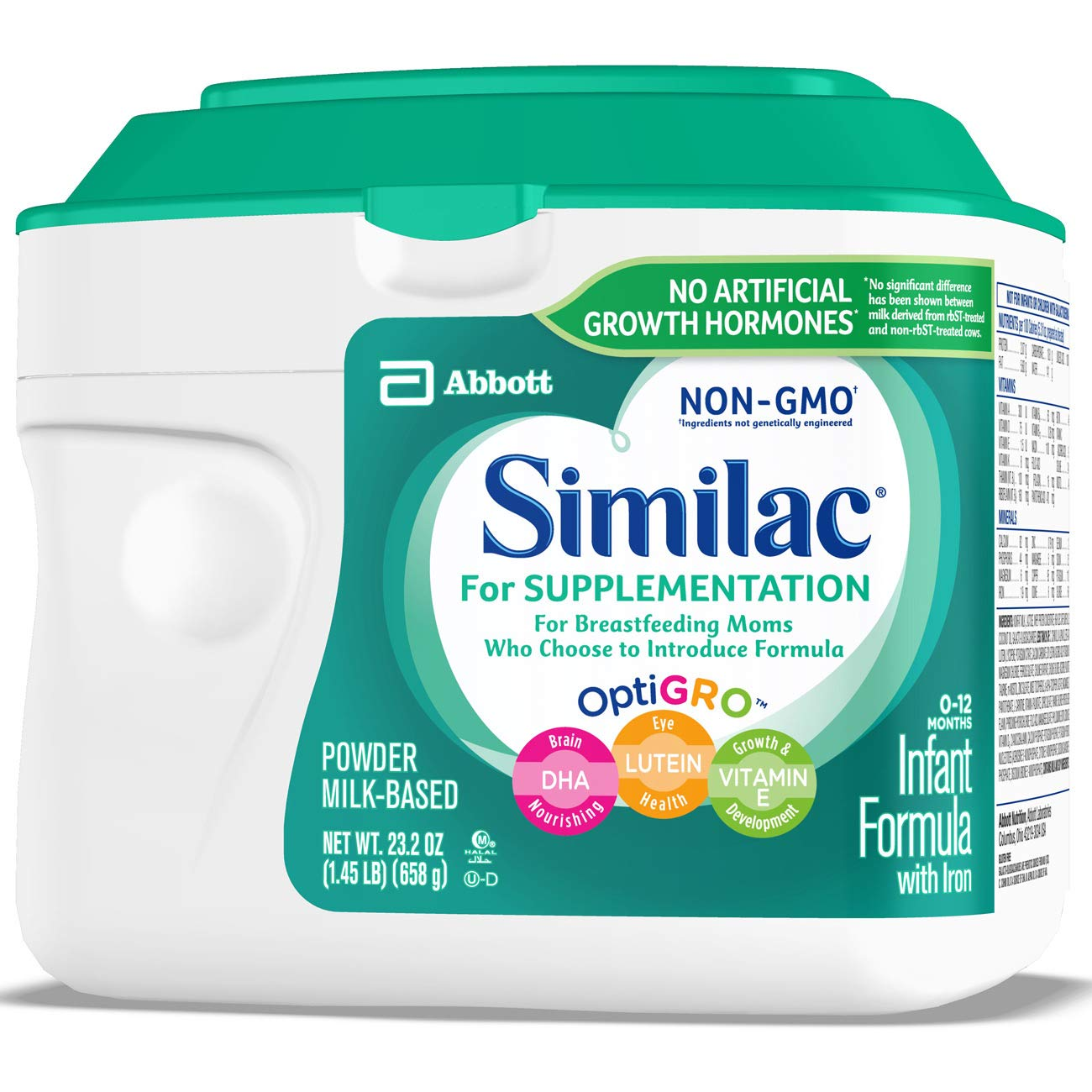 Similac For Supplementation Non-GMO Infant Formula with Iron, Powder, 23.2 Ounces (Pack of 4) by Similac (Image #9)
