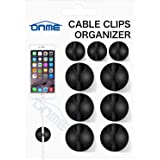 Cable Clips, ONME 6 Pack Cable Holder Multipurpose Cord Management for Home Non-Toxic Rubber Material Self-Adhesive Desk…