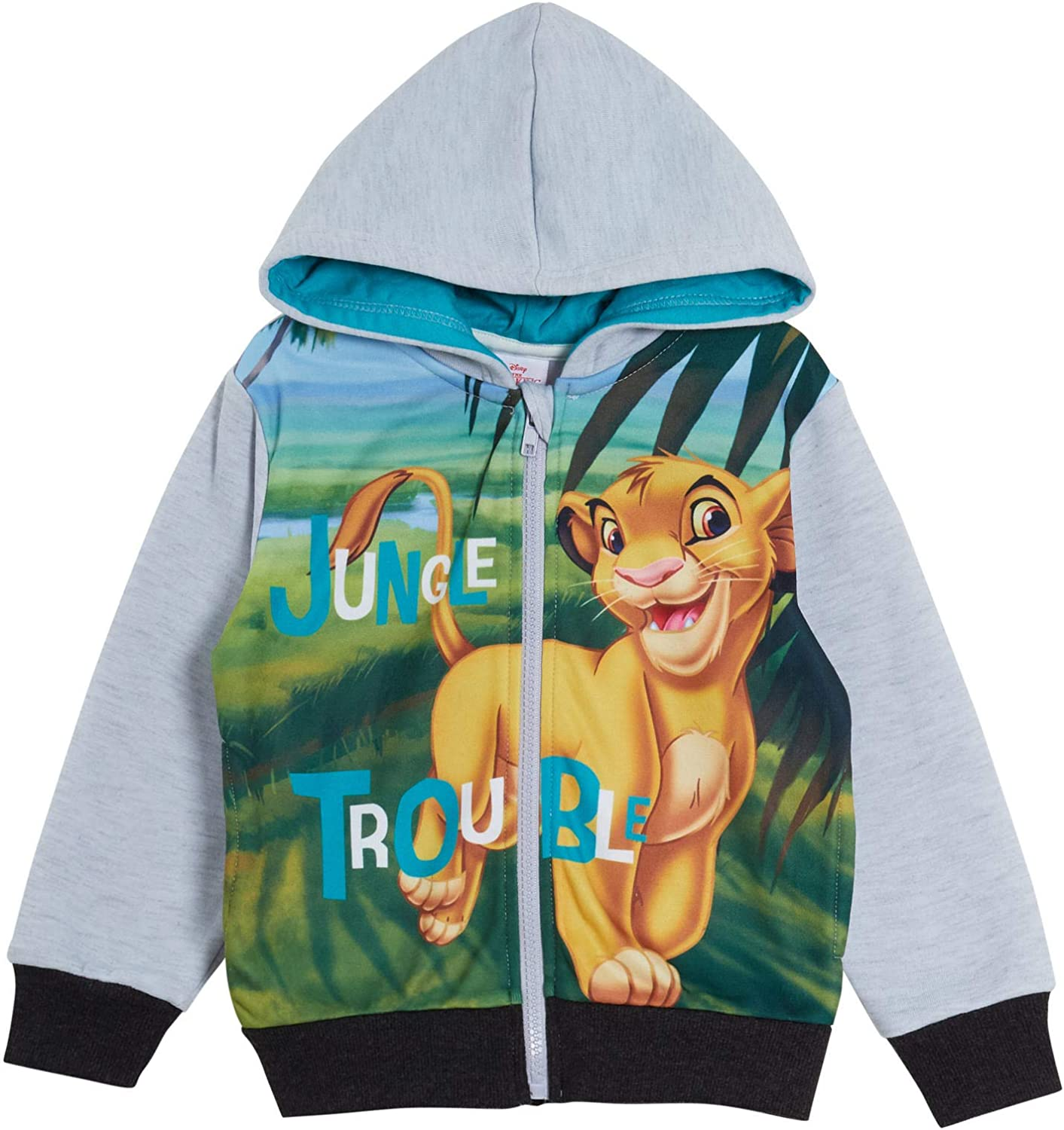 Amazon Com Disney The Lion King Boys Hooded Jacket Grey 8 Years Clothing