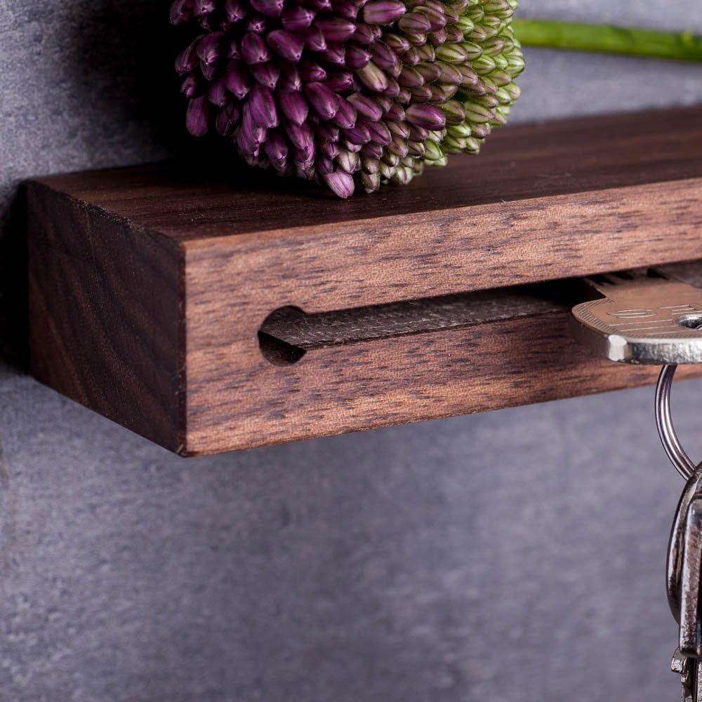 30 cm Woods Pannello appendichiavi in legno realizzato a mano in Baviera diversi tipi di legno e modelli a scelta