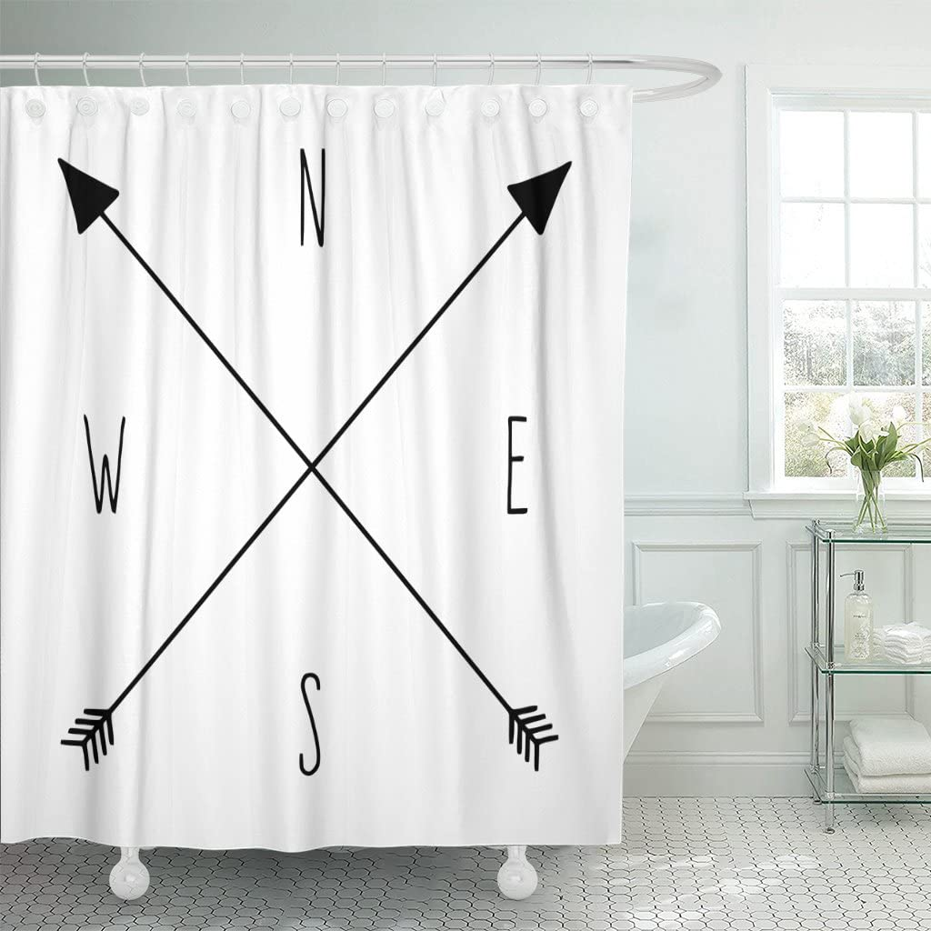 Compass and Arrows Shower Curtains