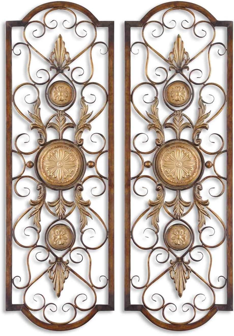 Uttermost 13475 Micayla Antique Metal Panels, Set 2