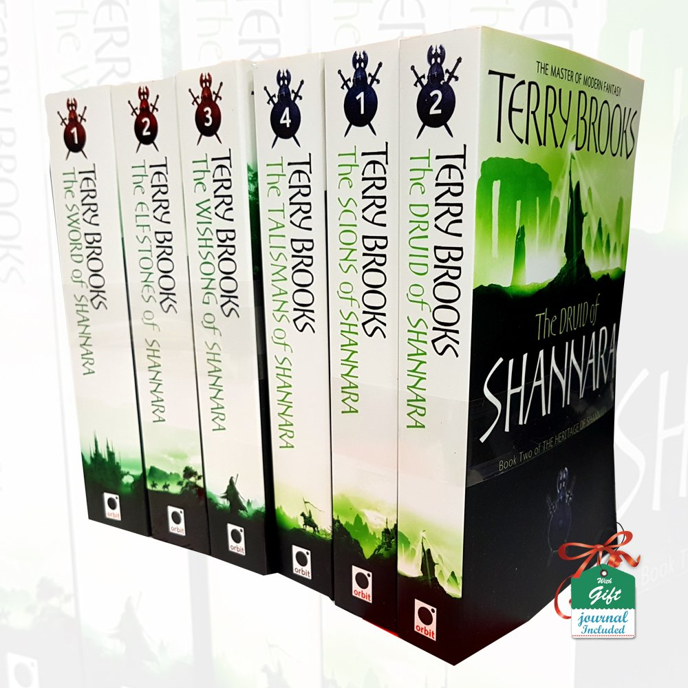 719dd85edc0 Terry Brooks Collection Shannara Chronicles and Heritage of Shannara Series  6 Books Bundle With Gift Journal Paperback – 2017