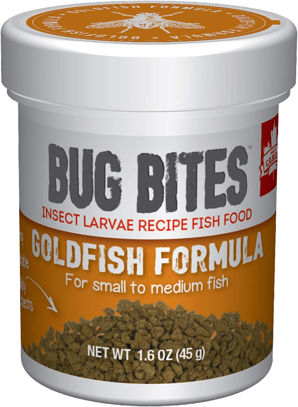 Fluval Bug Bites Goldfish Fish Food, Granules for Small to Medium Sized Fish, 1.6 oz., A6583