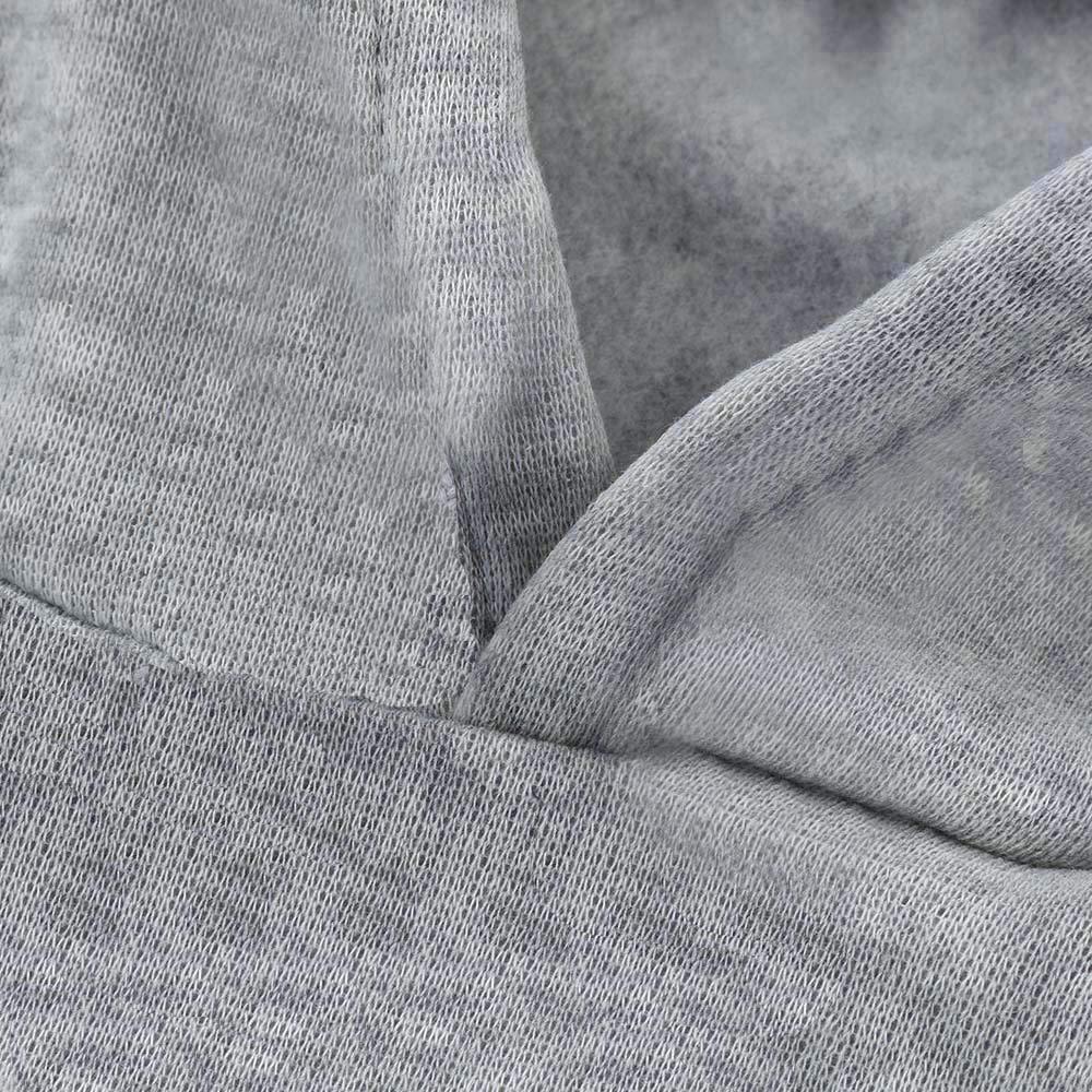 VEMOW Damen Hoodie Frauen Rose Nothing Brief gedruckt Langarm Sweatshirt Bluse