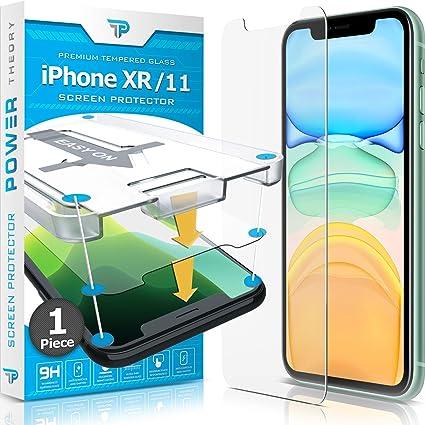 Power Theory Protector Pantalla para iPhone 11/iPhone XR Cristal Templado Ultrafino (0.33mm), Vidrio Ultraresistente (Dureza 9H) con Kit de Instalación Anti Burbujas