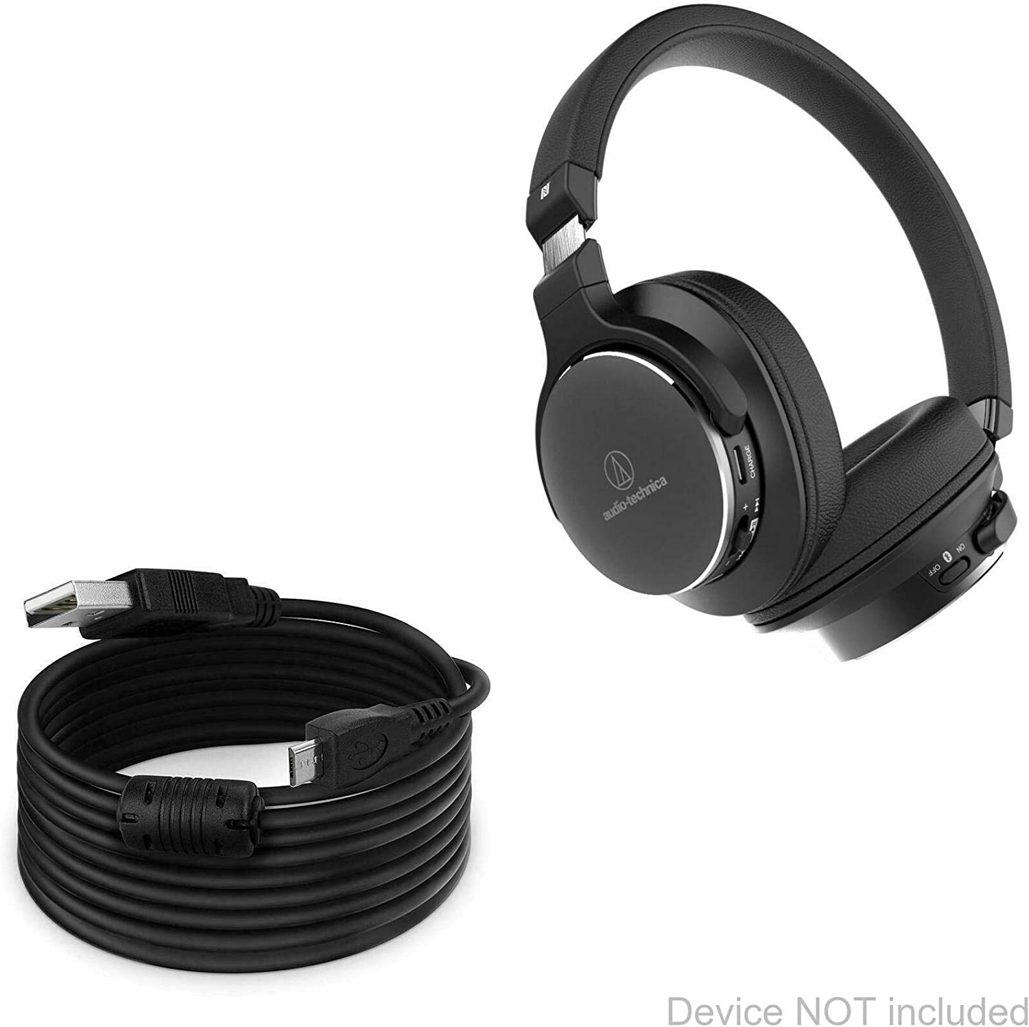Cable Black BoxWave DirectSync Extra Long Charge and Sync Cable for Audio-Technica ATH-SR5BT 15 ft Audio-Technica ATH-SR5BT Cable