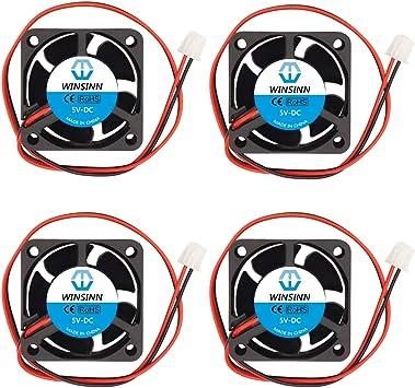 WINSINN Ventilador de 40 mm 5V 12V 24V DC sin escobillas de ...