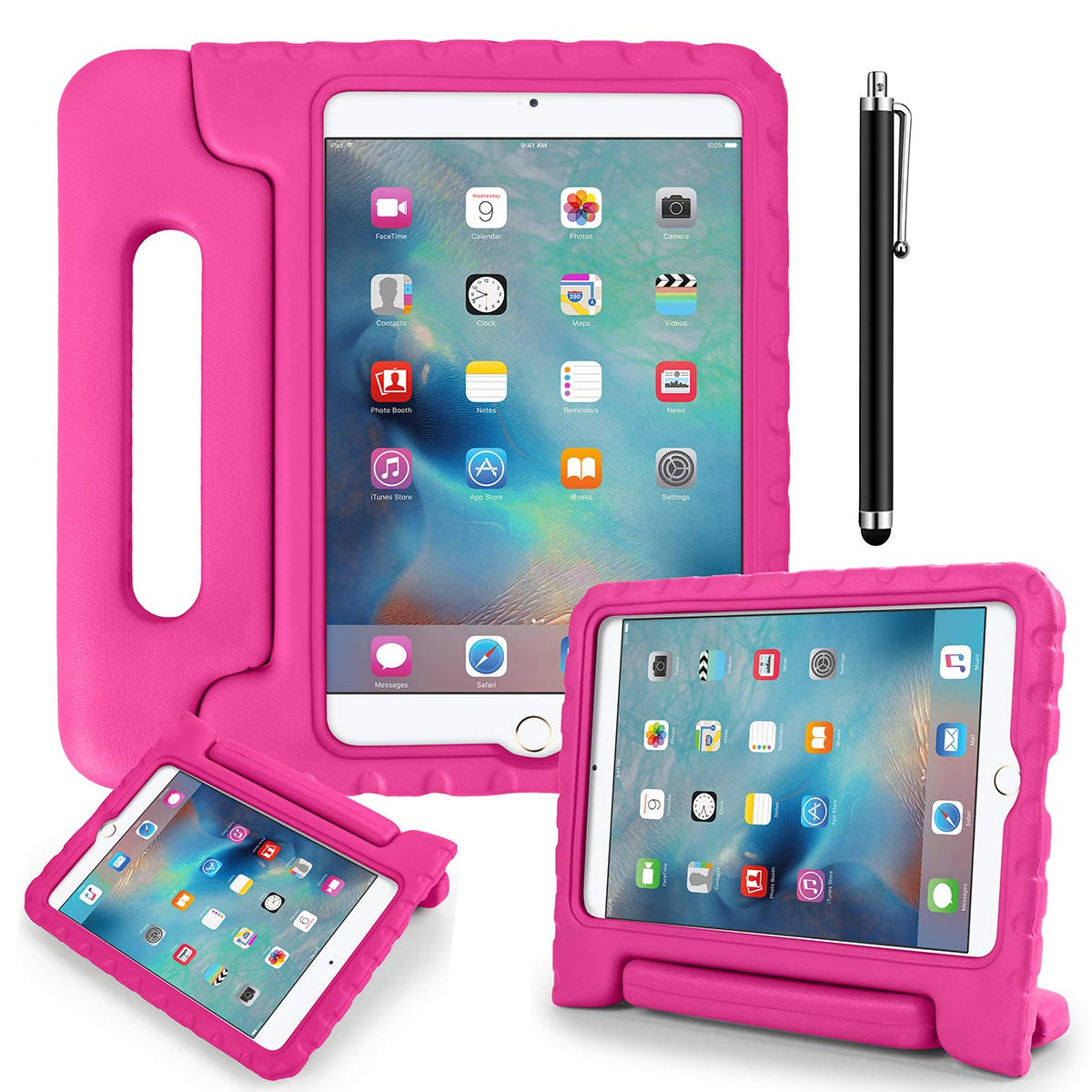 流行 AICase iPad Mini 4ケース B07L93RJR9 - onecase 子供用 耐衝撃 コンバーチブルハンドル 軽量 軽量 超保護スタンドカバーケース Apple iPad Mini 4用 ピンク onecase ホットピンク B07L93RJR9, デサント公式オンラインショップ:1f8d31fa --- a0267596.xsph.ru