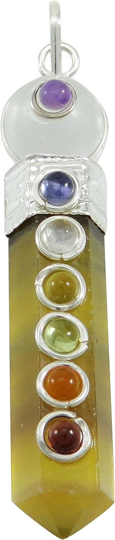 Harmonize Cristales Citrino Colgante de Piedra Lápiz de Equilibrio Varita Reiki Terapia 7 Chakra Balancing