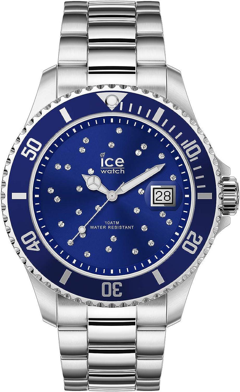 Ice-Watch - ICE steel Blue cosmos silver - Reloj soldi para Mujer con Correa de metal - 016773 (Medium)