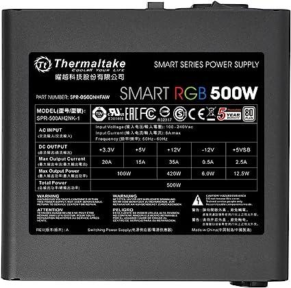 Thermaltake Smart Rgb 500w Pc Netzteil Computer Zubehör