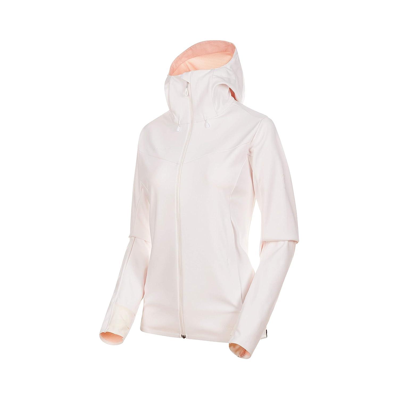 Mammut Ultimate V Veste Softshell à Capuche pour Femme Bright blanc-candy Melange L