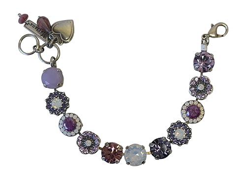 Mariana Purple Rain Large Swarovski Crystal Bracelet: Amazon