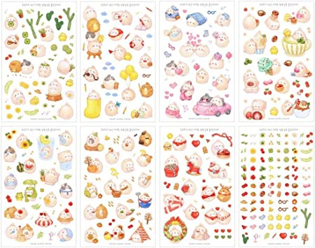 Uteruik 6 Fogli Cute Lovely Girls Versione 2 Adesivo Decorativo Nastro Adesivo//Bambini Craft Scrapbooking Sticker Set per diario Album riviste