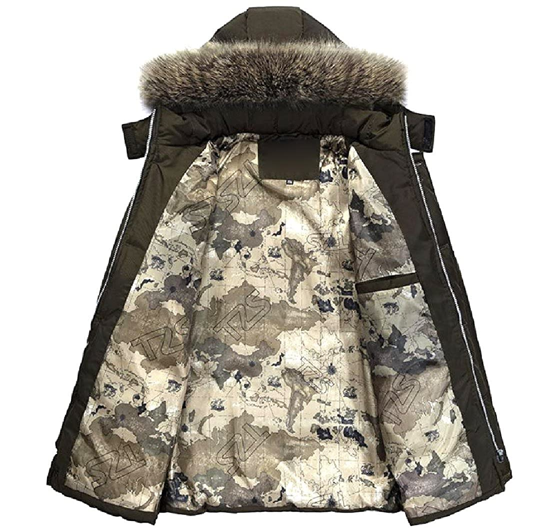 NestYu Mens Oversized Fur Collar Soft and Warm Slouchy Anorak Jacket