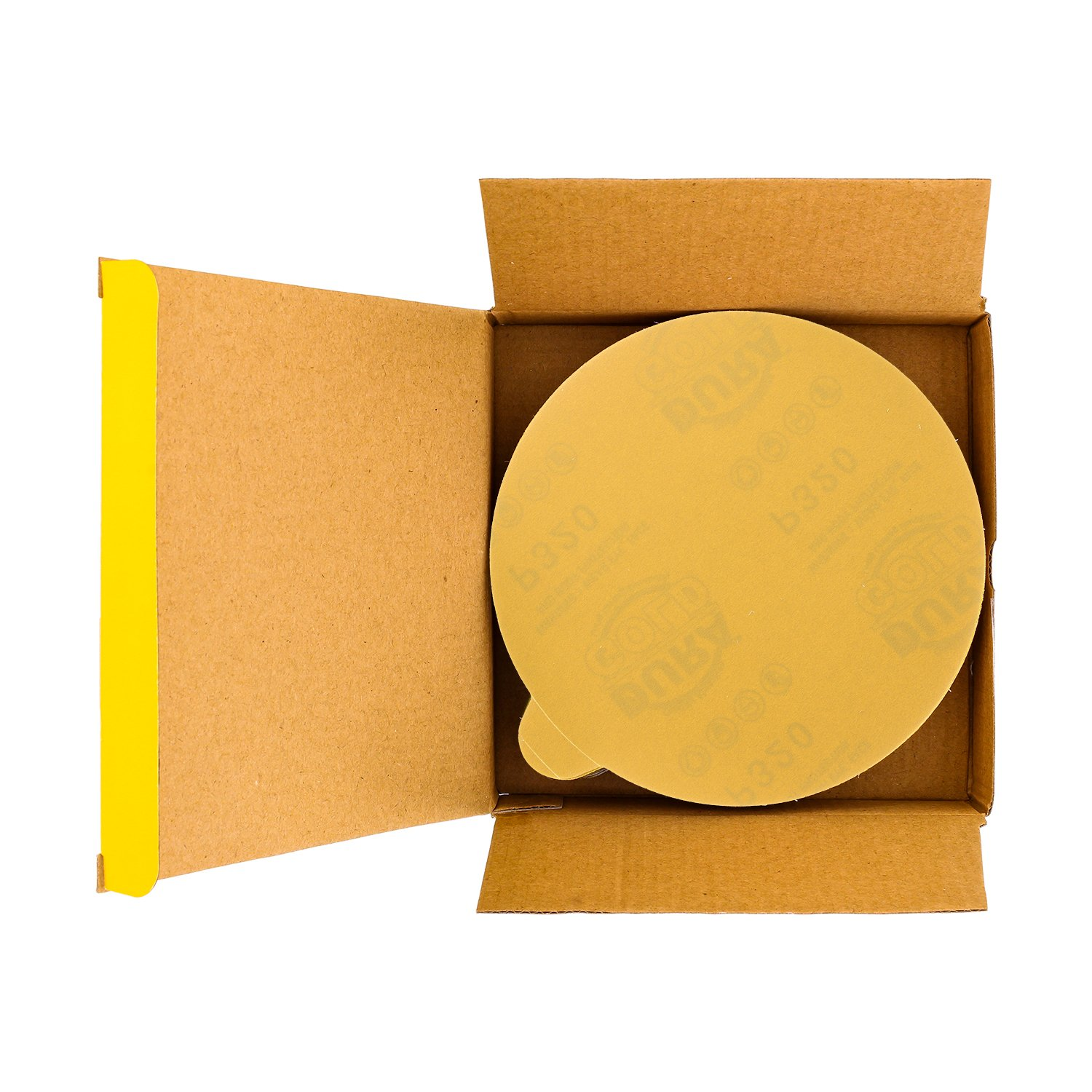 Dura-Gold Box of 25 Sandpaper Finishing Discs for Automotive and Woodworking 40 Grit 6 Gold PSA Self Adhesive Stickyback Sanding Discs for DA Sanders Premium