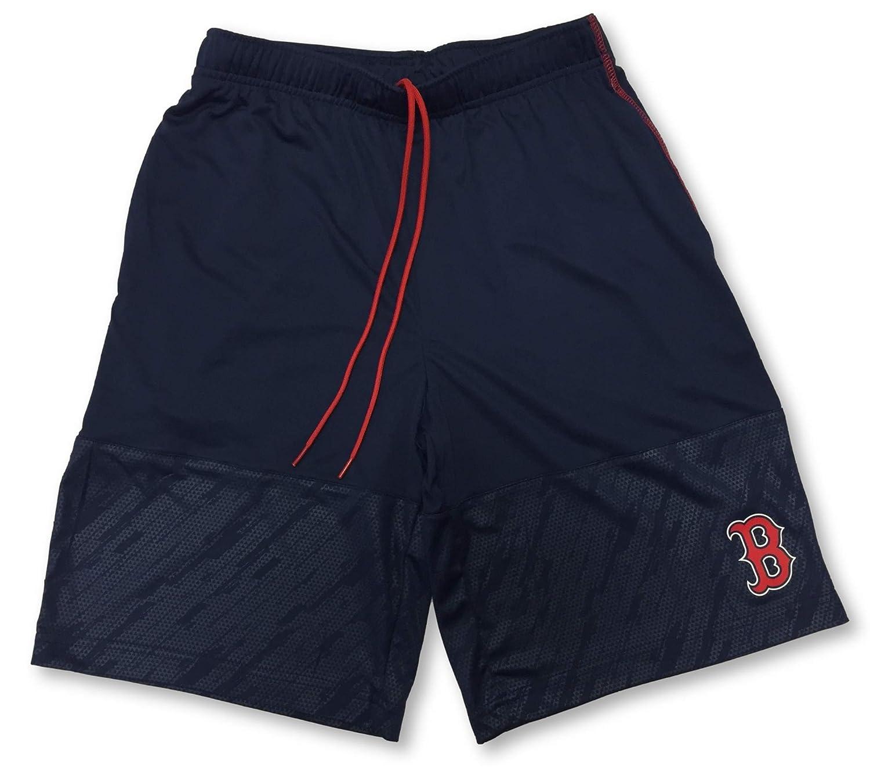 Boston Red Sox Adult Mens Navy Athletic Drawstring Shorts