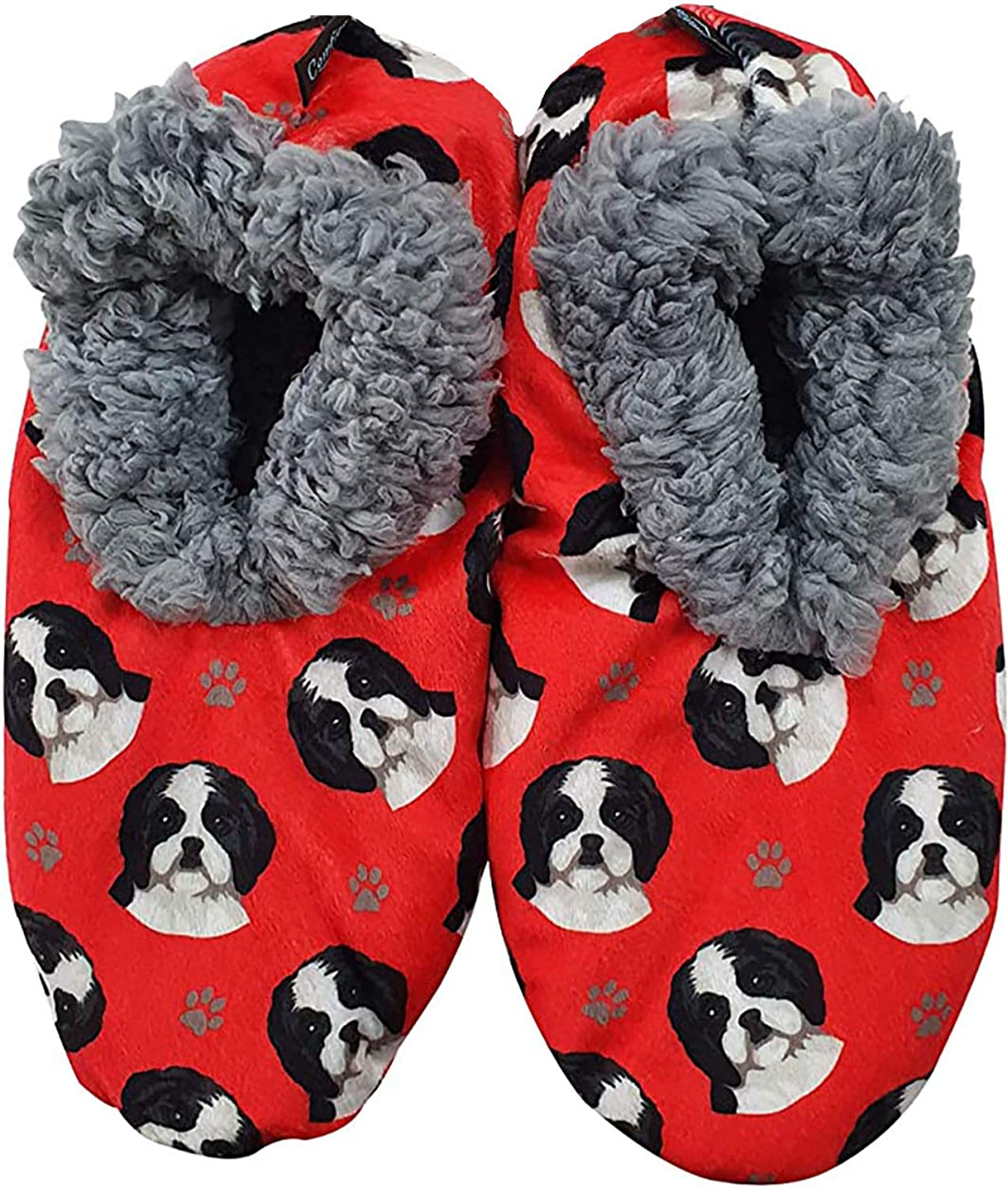 Shih Tzu Super Soft Women's Slippers - One Size Fits Most - Cozy House Slippers - Non Skid Bottom - perfect for Shih Tzu gifts