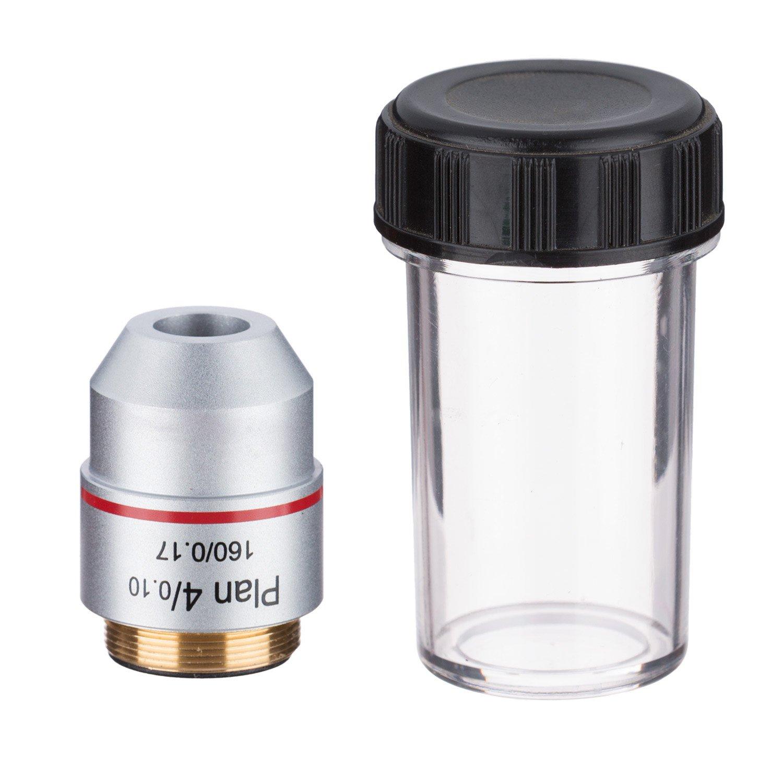 AmScope 4X Achromatic Microscope Objective