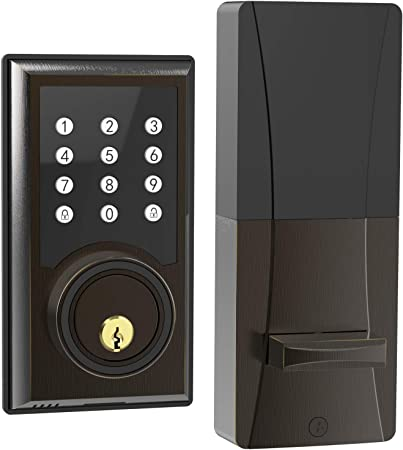 Electronic Keyless Entry Door Lock Keypad Security Access Combination Home Front