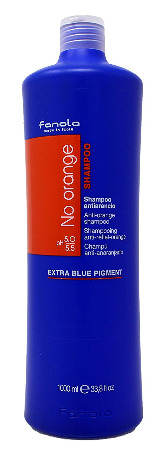 Fanola shampoo NO ORANGE Antinaranja 1000 mL 1 L - Special dark coloured hair - neutralizes unwanted copper red - professional 96418