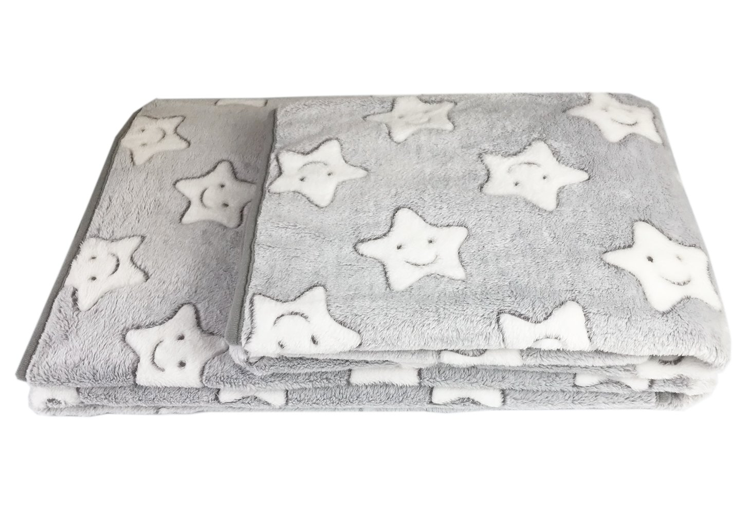 DANCE YOU PRIMA Super Soft Premium Flannel Fleece and Warm Dog Cat Puppy Bed Blanket Washable For Small Medium Large Pet Grey 75*100cm JY-TZ04-GR-L