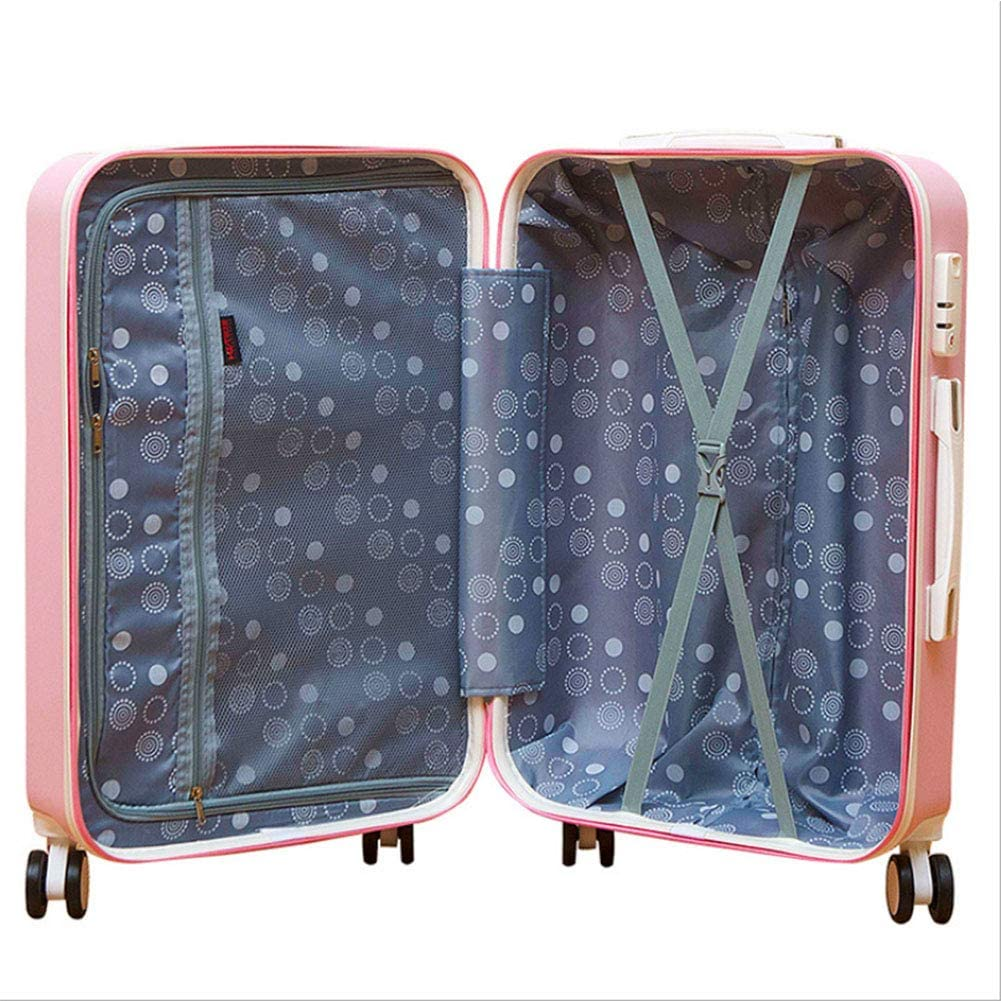Portable Luggage Pure Aluminum Large Capacity Suitcase Rotatable Pulley,Two in One,Gold,20 JINPENGRAN Travel Case