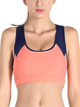 Exerin - Sujetador Deportivo para Mujer Sin Aros Plasticidad para ...