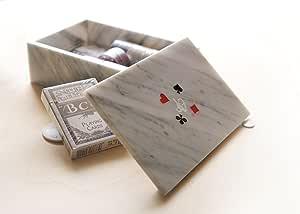 CARRARA ARTE Caja para cartas de juegos Playcard estuche para juego de cartas (especial mármol de Carrara: Amazon.es: Hogar