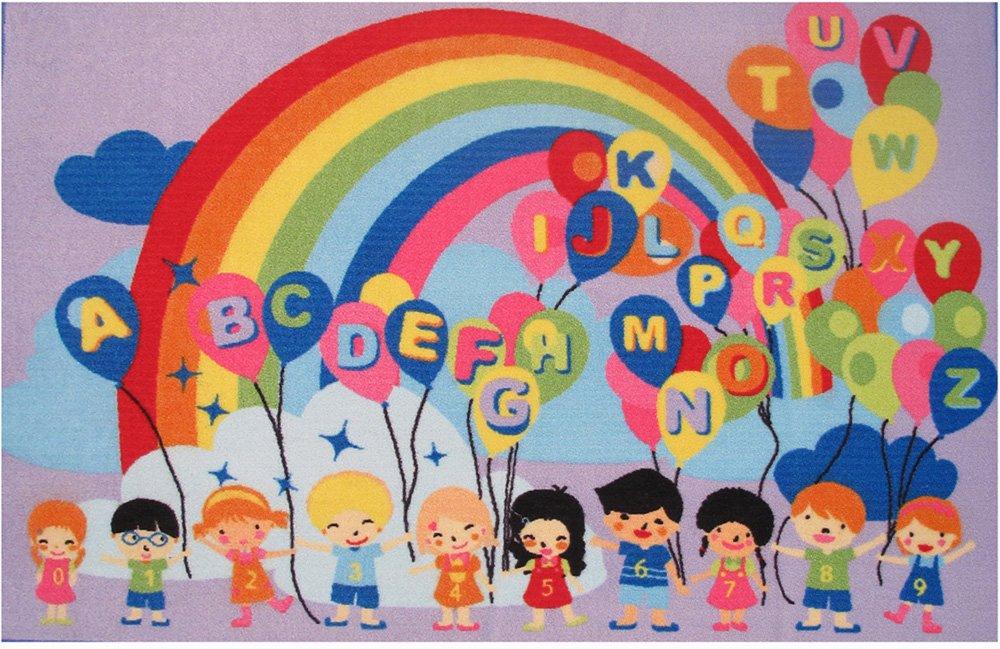 Fun Time Educational Balloons 51 In. x 78 In. Kids Rug