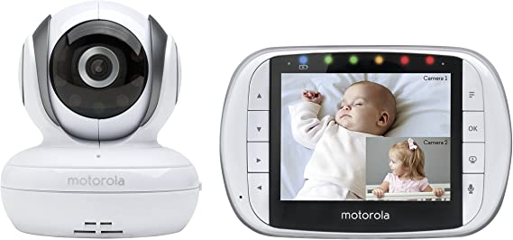 Motorola MBP36S Remote Wireless Video Baby Monitor with 3.5-Inch Color LCD Screen
