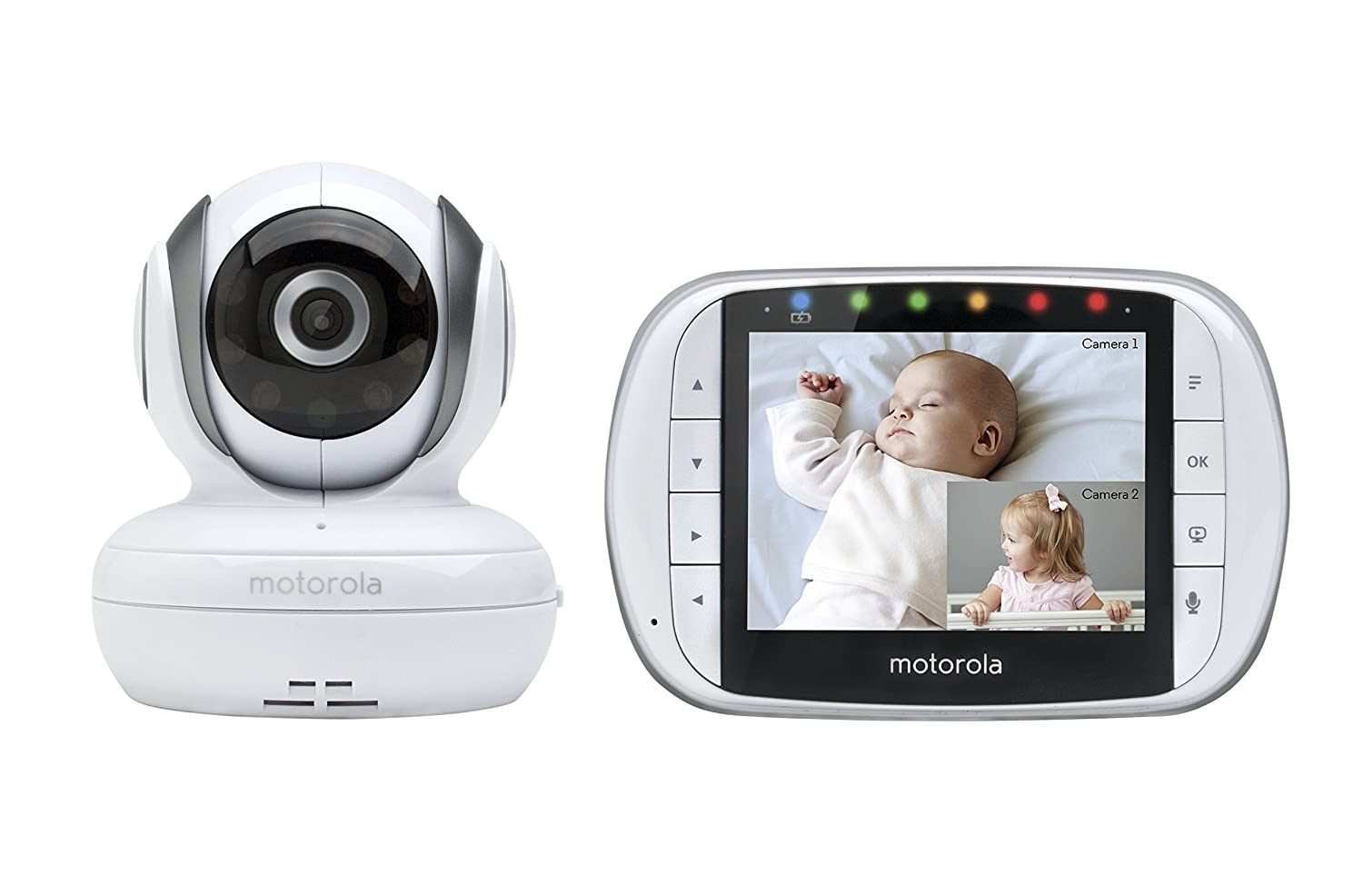 Motorola Video Baby Monitor with 2 Cameras, 3.5 Inch LCD Screen 36S-2