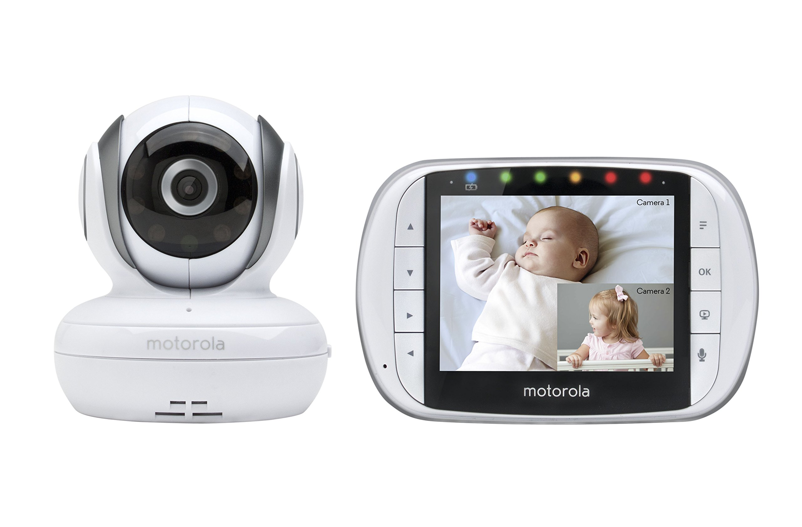Motorola MBP36S Remote Wireless Video Baby Monitor with 3.5-Inch Color LCD Screen, Remote Camera Pan, Tilt, and Zoom by Motorola Baby (Image #1)