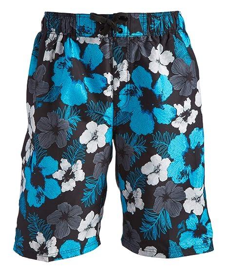 e4b6a657721a5 Kanu Surf Men's Hangout Floral Quick Dry Beach Board Shorts Swim Trunk,  Black, Small