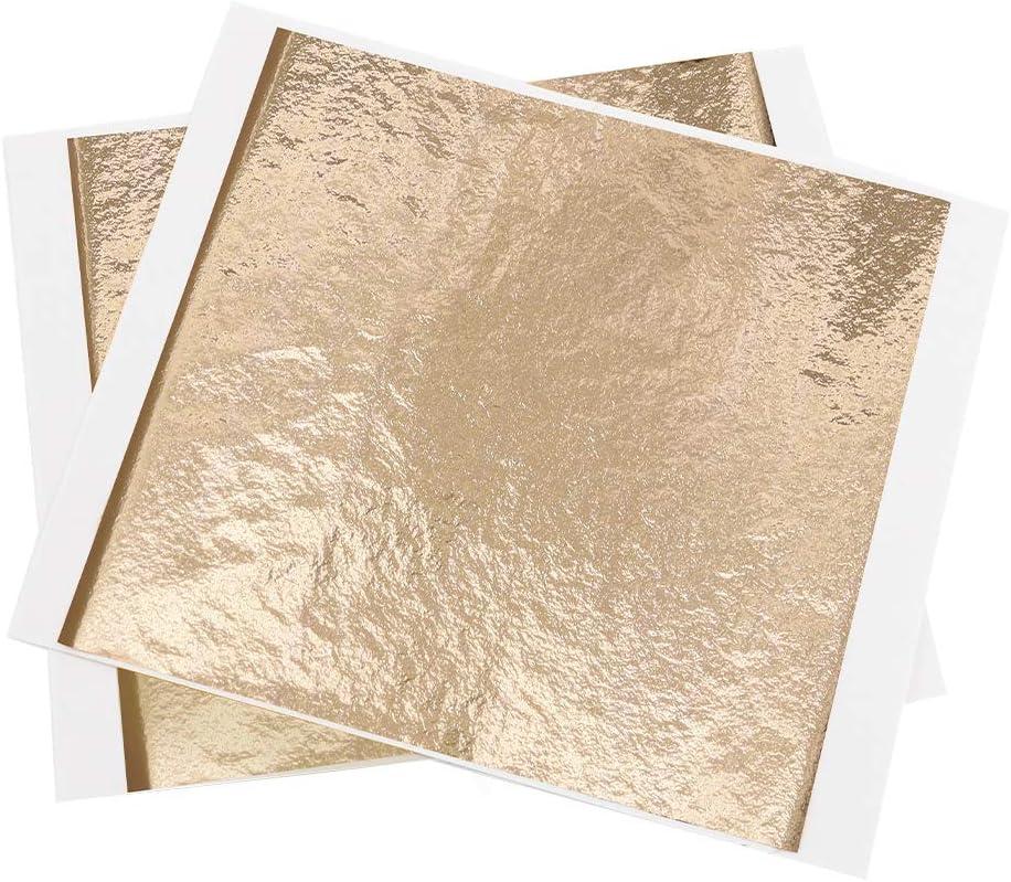 Champagne Gold Gilding Leaf Sheets,100 PCS 5.11