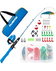 Kids Fishing Pole,Telescopic Fishing Rod and Reel Combos with Spincast Fishing Reel and String with Fishing Line