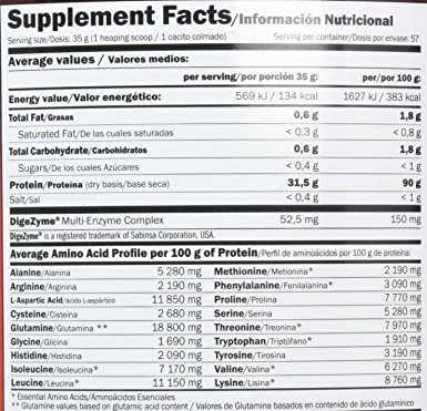 Amix Isoprime CFM, Proteínas con Sabor de Cookies & Cream, 2000 g
