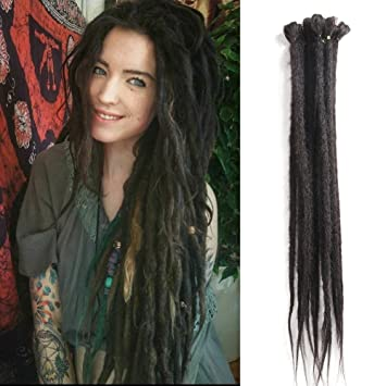 amazon com dreadlocks extension 20 inch 12 strands handmade dreads