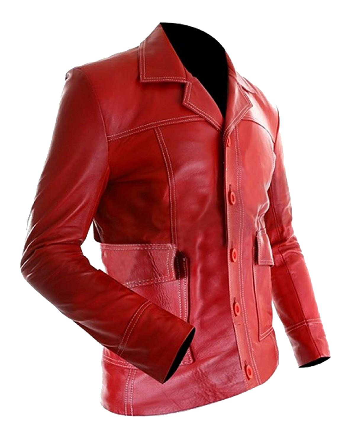 Mens Brad Red Pitt Fight Hi-Quality Tyler Biker Durden ...