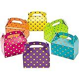 12 Bright Polka Dot Treat Boxes