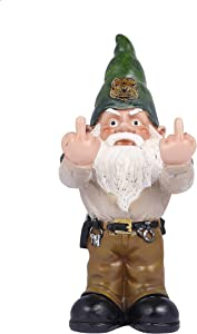 """Fanssie Funny Furious Garden Gnome Statue Angry Gnome Outdoor Decor for Outdoor Indoor Patio, 10"""" Tall"""