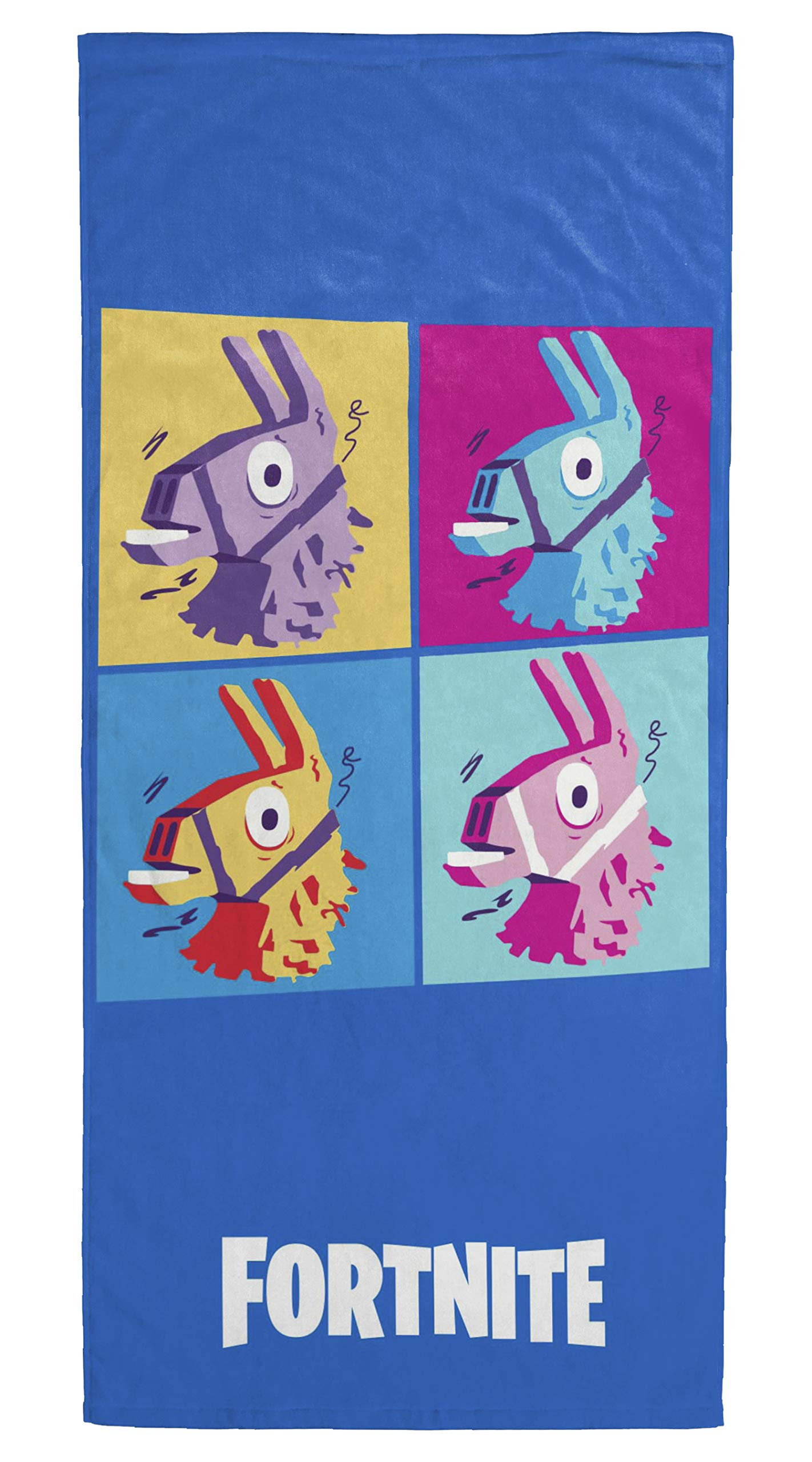 Fortnite Llama Warhol Kids Bath/Pool/Beach Towel - Super Soft & Absorbent Fade Resistant Cotton Towel, Measures 28 inch x 58 inch (Official Fornite Product)