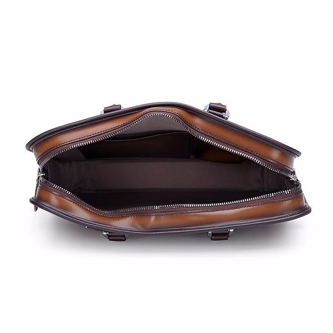 Image Unavailable. Image not available for. Colour  TERSE Men s Briefcase  Genuine Leather Handmade Messenger Bag Business Office Laptop ... 66d4eca79b5e4