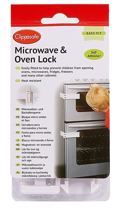 Clippasafe Microwave and Oven Lock: Amazon co uk: Baby
